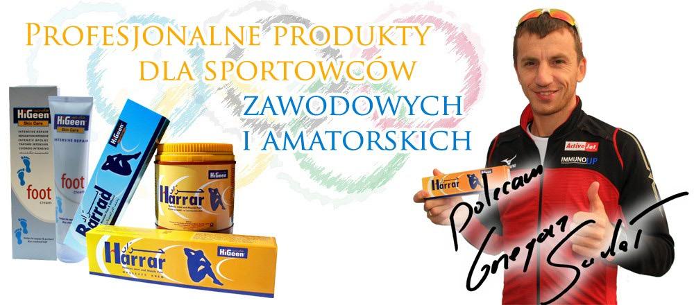 Profesjonalne produkty dla sportowców