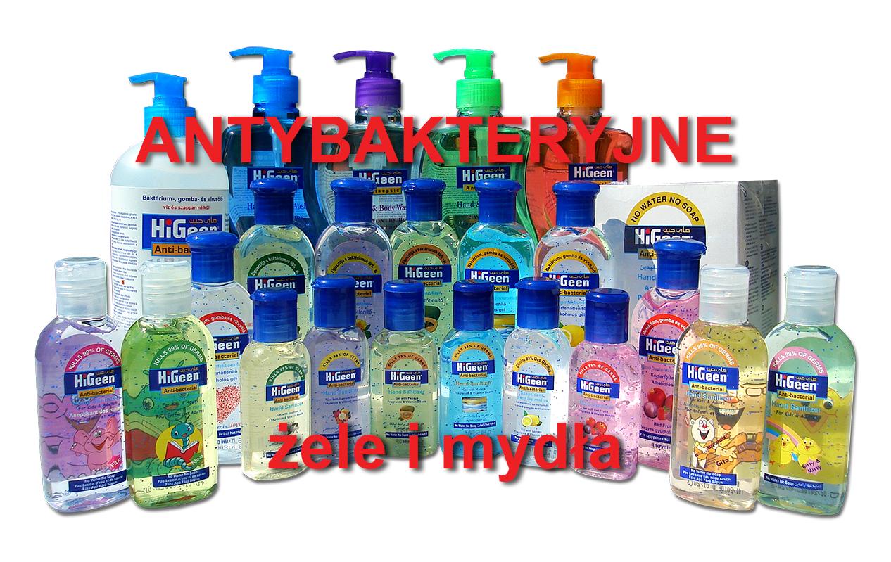 Żele i mydła antybakteryjne